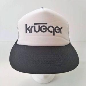 Vintage Krueger Trucker Hat Mesh Snapback Black